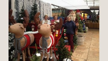 Festive garden centre visit for Henley-on-Thames care home Residents