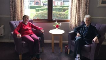 Lovely afternoon tea for two friends at Coalville care home