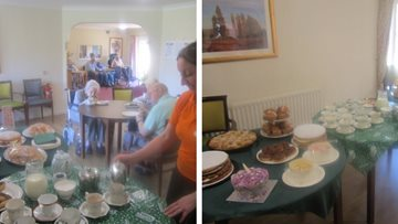 Himley care home hosts coffee morning for Macmillan