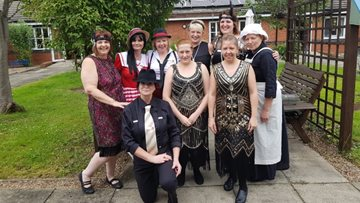 Residents step back in time for 1920's day at Lincoln care home