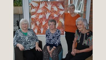 Artistic afternoon at Georgetown care home