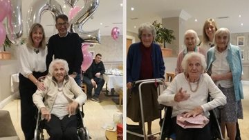 Centenarian celebrates 102nd birthday at Gateshead care home