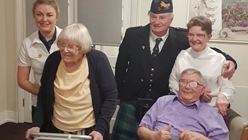 Tenlands Care Home celebrates Burns Night