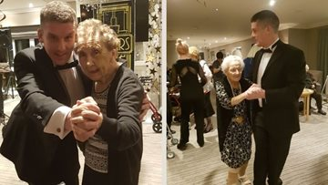 Residents relive their youth with special dance night at Whitley Bay care home