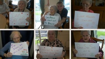 Glasgow care home Residents share positive messages