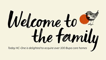 HC-One Welcomes New Residents, Relatives a Colleagues As It Completes On Acquisition Of Over 100 Bup