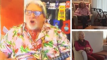 Ukulele Paul has a virtual visit to Bath care home