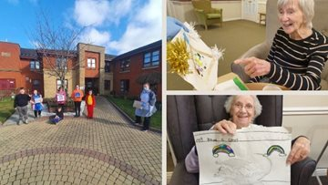 Intergenerational pen pals delight at Ayr care home