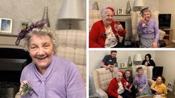 Wedding bells at Coalville care home