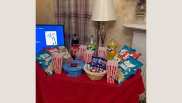 Crieff care home Residents enjoy cinema night