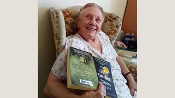 Leeds care home Resident shares her interests