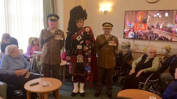 St Andrews care home remembers fallen heroes on Remembrance Day