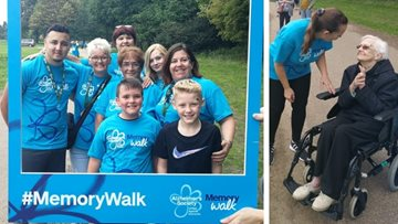 Caerphilly care home takes part in Alzheimer's Memory Walk