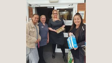 Hull care home receives donation from local Costa Coffee