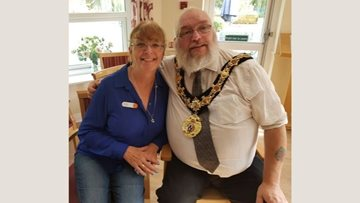 Northwich Mayor Joins Care Home for Harvest Festival Celebrations