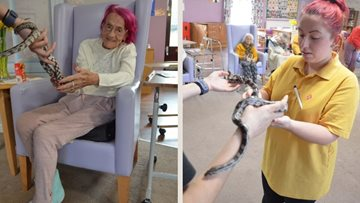 Zoo lab comes to Priory Mews care home