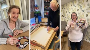 Arts and crafts at Falkirk care home
