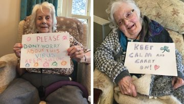 Huddersfield care home send out positive messages