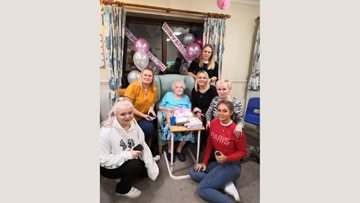 92 birthday candles for Tipton care home Resident