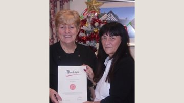 Colleague celebrates length of service at Woodchurch care home