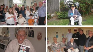 100th birthday celebrations for Hinckley war veteran