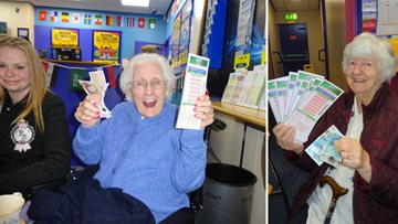 Bingo! Residents have a great time at the bookies