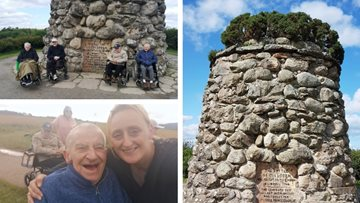Kirkcaldy care home Residents visit Culloden Battlefield