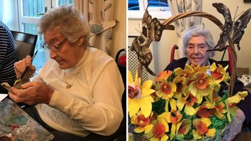 Clarendon Hall celebrates World Flower Day with colourful creation