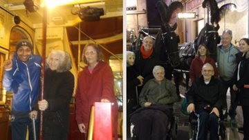 Trip to the transport museum for Glasgow care home Residents