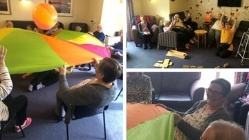 Falkirk care home Residents keep busy with activities afternoon