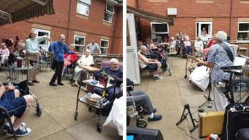Hodge Hill care home enjoy party in the garden