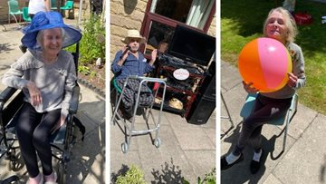 Oldham care home enjoys a sunny BBQ day