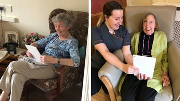 Lincoln care home keep in touch with family with new tablets