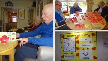 Honiton care home starts Valentine's Day crafting
