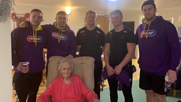 Wigan Warriors visit local care home Residents