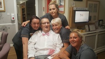 Kind Care Home Staff get Resident to the Ball!