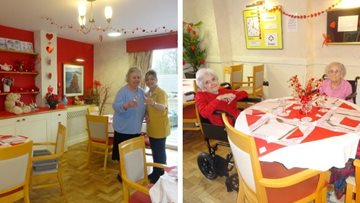 Love is in the air at Honiton care home