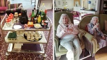 West Sussex care home Residents enjoy a morning tipple