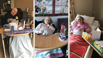 Boston care home celebrate on Christmas morning