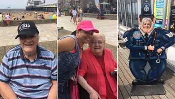 Residents enjoy sizzling summer fun at Weston-super-Mare
