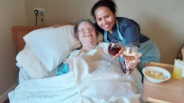 Boston care home welcomes 2020 with New Years' Eve brunch
