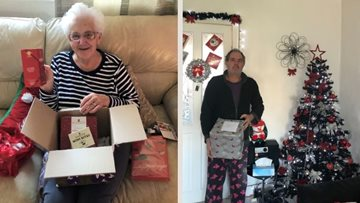 Hebburn care home gift Christmas hampers to local community