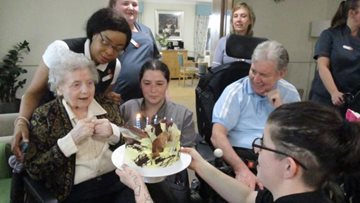 Resident turns 88 years young at Hinckley care home