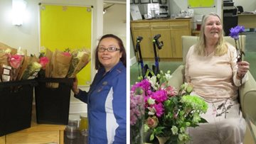 A bouquet of fun at Cramlington care home
