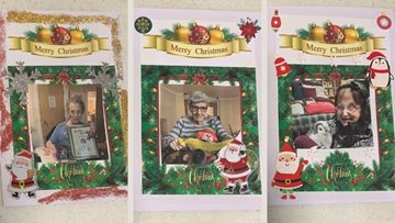Festive family greetings from Wigan care home Residents
