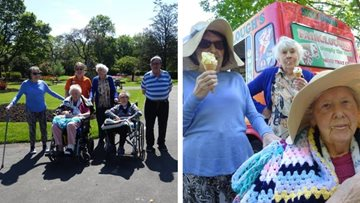 Picnic in the park for Mossley care home Residents