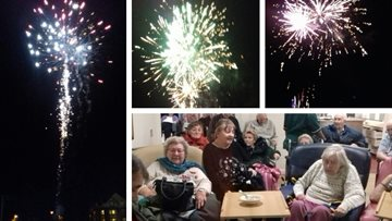 Dudley care home hosts firework display