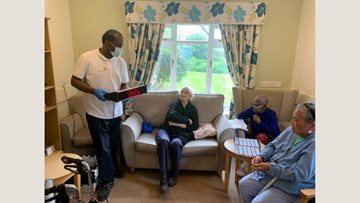 Lewisham care home Residents enjoy bingo fun