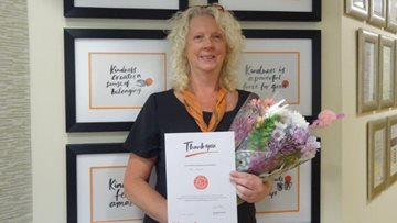 Manager celebrates 20 years' service at Scunthorpe care home