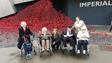 Residents take a trip to the Imperial War Museum